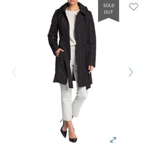 NWT DKNY Quilted Belted Coat